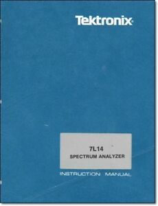 Tektronix 7l14 Instruction Manual W 11 x17 Foldouts Protective Covers