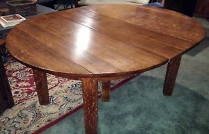 Original Gustav Stickley 5 Leg Mission Oak Dining Table Local Pick Up