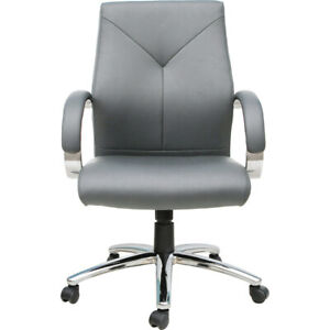 Express grey Pu Leather Executive Office Chair bifma