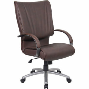 Express brown Pu Leather Executive Office Chair bifma