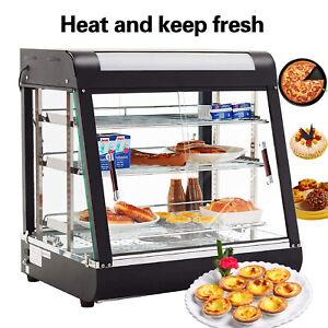 3 Tiers Commercial Food Pizza Warmer Cabinet Counter top Heated Display Case
