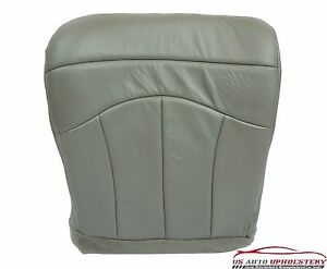 2000 Ford F150 Lariat Super Duty Driver Side Bottom Leather Seat Cover Gray