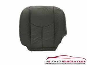 03 Chevy Silverado Driver Bottom Leather Seat Cover Dark Pewter Gray