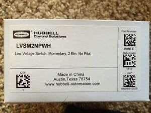 Lvsm2npwh Low Voltage Switch Momentary 2 Btn No Pilot