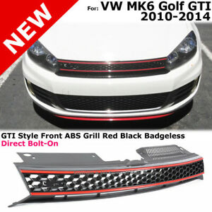 Front Grille Gti Style Mk6 Gollf Gti Jetta Wagon 2010 2014 Honeycomb Mesh Red