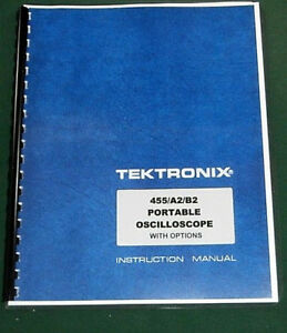 Tektronix 455 Instruction Manual Comb Bound Protective Plastic Covers