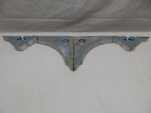 Pair Antique Corbels Gingerbread Shabby Porch Vtg Chic Finial Brackets 425 18p