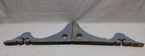 Pair Antique Corbels Gingerbread Shabby Porch Vtg Chic Finial Brackets 427 18p