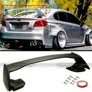 For 15 18 Wrx Sti 4dr Sedan Oe Style Primed Black Abs Rear Trunk Wing Spoiler