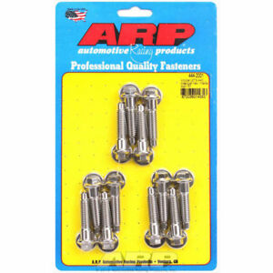 Arp 444 2001 Intake Manifold Bolts Stainless Steel Chrysler 318 440 Hex Head