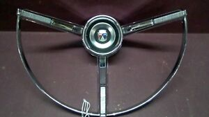1963 Ford Galaxie Steering Wheel Horn Ring loc A01 c17