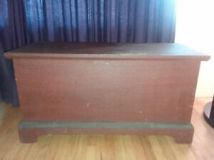 1800s Antique Pennsylvania German Primitive Red Wash Blanket Chest Dowry Trunk