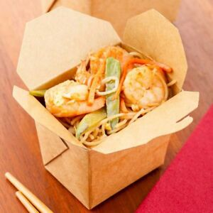 8 oz Square Noodle Take Out Food Container For Take Out Restaurants Pack Of 200