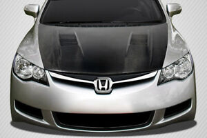06 11 Honda Civic Javelin Dritech Carbon Fiber Body Kit Hood 114057