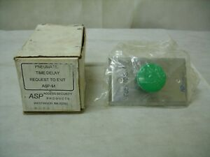 Alarm Controls Asp 14 request To Exit Push Button Pneumatic Green nos
