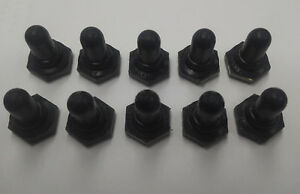 N1030 black Boot For Toggle Switch Lot Of 10