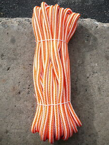 New England 16 Strand Hi vee Arborist Rope Tree Climbing Line 1 2 X 65 Orange