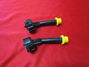 2 Blitz Gas Can Spouts Nozzles Self Venting Yellow Cap Fits All Blitz Gas Can
