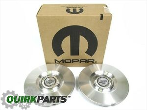 07 09 Chrysler Sebring 2 Wheel Center Caps Aluminum Chrysler Logo New Mopar