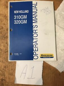 Operator s Manual For New Holland 310gm 320gm 3pt Finishing Mowers 87757958