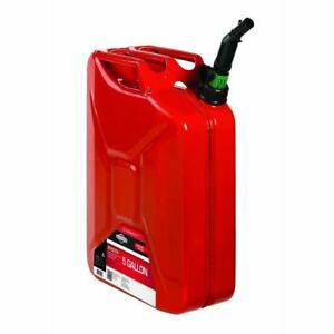 Briggs And Stratton 5 Gal Red Metal Jerry Gas Can
