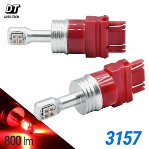 2018 Cree 3157 3156 60w Red High Power Chip Led Brake Tail Stop Light Bulbs