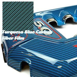 0 5m 10m Water Transfer Printing Film Hydrographicturquesa Blue Carbon Fiber