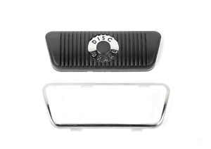 1968 73 Ford Mustang Replacement Disc Brake Pedal Pad W Stainless Trim Auto