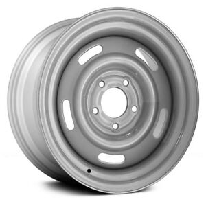 15x8 Silver Rally Steel Wheel Rim For 1969 1982 Chevrolet Corvette Brand New