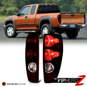 For 04 12 Chevy Colorado Gmc Canyon Red Smoke Tail Light Brake Signal Lamp Pair
