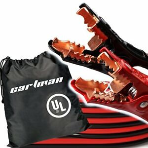 Cartman Booster Cables In Carry Bag 6 Gauge 16 Feet Jump Cable With Ul Listed