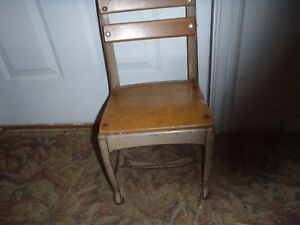 Vintage Kid S Child School Chair Doll Playhouse Chair Wooden Chair