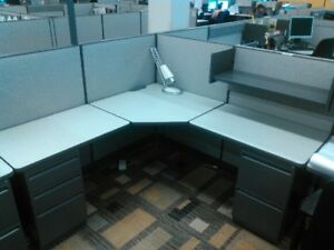 Haworth Places 50 High 6x6 Workstations Excellent Condition