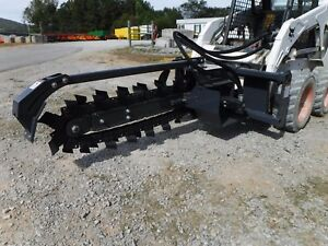 Bobcat Skid Steer Attachment 48 X 6 Virnig Trencher Ditch Witch Ship 199