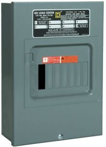 Main Lug Load Center 100 Amp 6 space 12 circuit Indoor With Surface Mount Cover