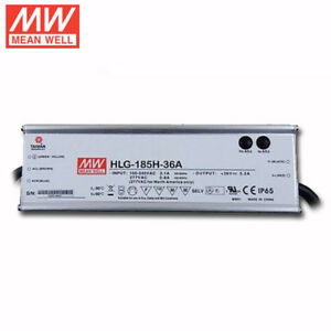 Mean Well Hlg 185h 36a Dimmable Led Driver For 36 Volt Citizen Or Vero Cob 185w