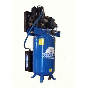 5 Hp 2 Stage Single Phase 120 Gallon Vertical Air Compressor By Eaton