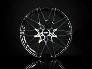 Vmr V801 19x8 5 9 5 5x112 Et35 Titanium Black Shadow Staggered Wheel Set