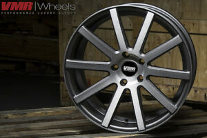 Vmr V702 20x10 5x112 Et45 Matte Gunmetal Brushed Face Wheel set Of 4