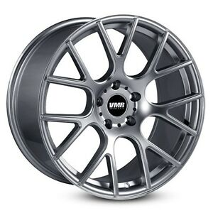 Vmr V810 18x10 5x112 25 Gunmetal Flow Formed Wheels set Of 4