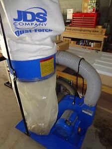 Jds Dustforce 1 5 Hp Dust Collector for Jet Tablesaw grizzly powermatic 110v euc