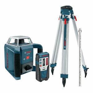 Bosch Grl400h 1 300 foot 360 degree Self leveling Rotary Laser And Receiver