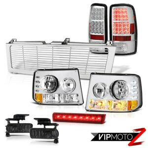 Euro Headlights Brightest Led Tailights Driving Fog Brake Red 00 06 Suburban Ls