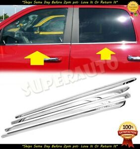 For 2009 2010 2018 Dodge Ram 1500 Crew mega Cab Stainless Chrome Window Sill