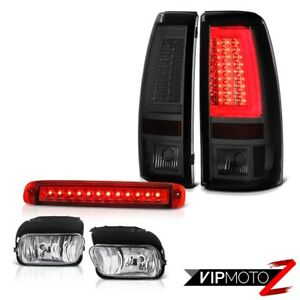 03 06 Chevy Silverado Tail Lights Rosso Red Roof Brake Lamp Foglamps Oled Prism