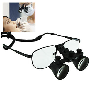 Dental Loupes 2 5x Magnification Flip up Flexible Optical Glass Loupe Dentistry