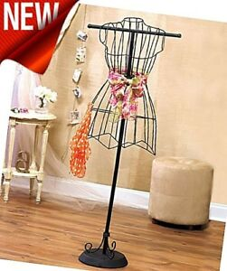 Vintage Look Wire Dress Form Stands Mannequin Boutique Holder Home Display New