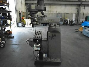 Alliant 1 Tmv Vertical Mill Variable Speed Power Feed