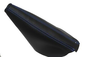 E Brake Boot Leather Synthetic For Ford Mustang 05 09 Blue Stitch