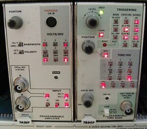 Tektronix 7a16p Amplifier 7b90p Time Base Programmable Plug Ins Calibrated